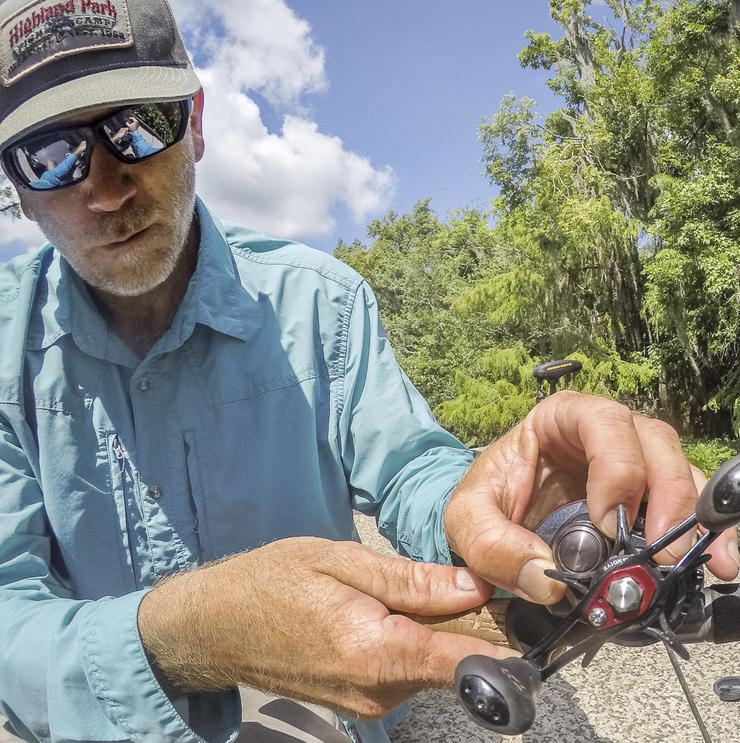 Learning to properly adjust the cast-control and magnetic brake systems on your reel is Step 1 to good casting. Image by Joe Balog