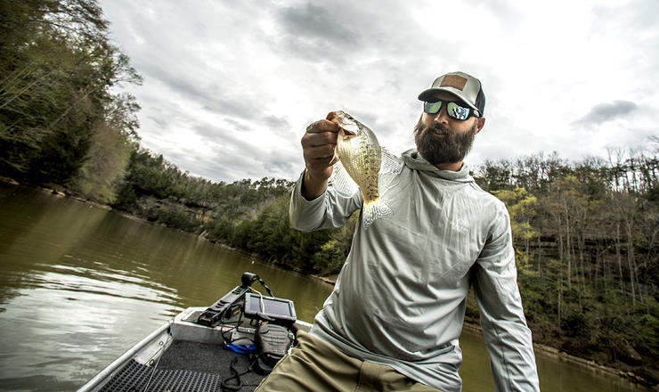 What's better, jigs or minnows? Good crappie anglers know there's a time to use both. Image by Bill Konway