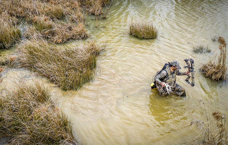 Big-buck hotspots are hard to get to. Work for it. Earn it. Image by Realtree Media