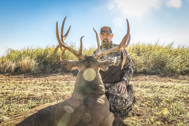 After decades of hunting, Danker finally tagged a buck on a piece of land he owns. Image by Buckventures