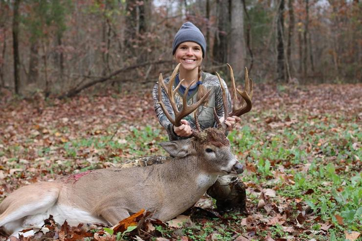 Florida native Kim Ellis traveled to Kentucky to hunt with friends, and to kill her biggest buck ever. (Ellis photo)