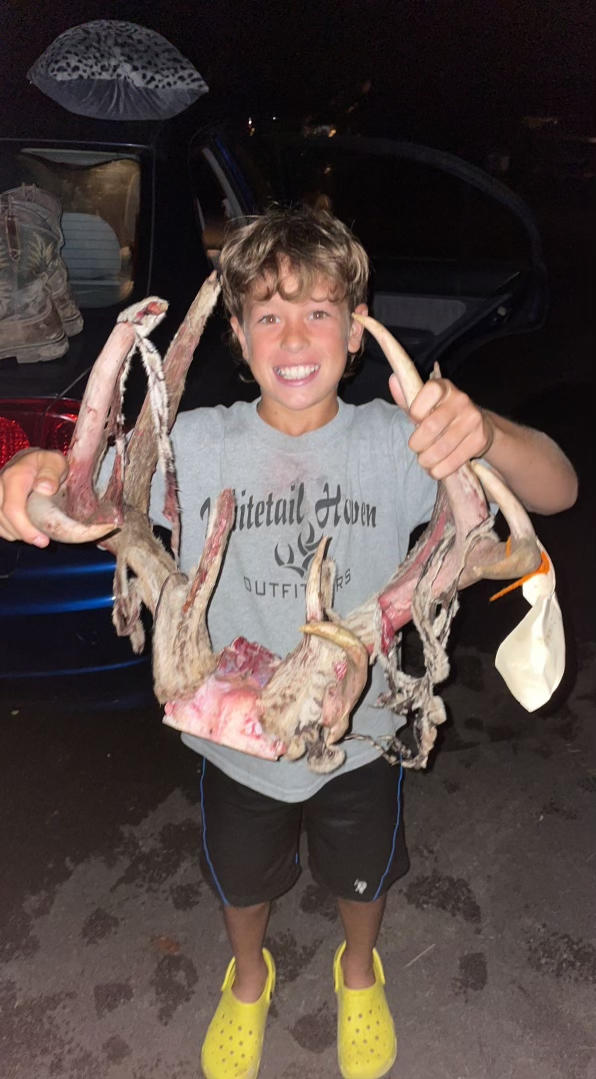 Now that's one proud youth hunter. Photo courtesy of Tevis McCauley