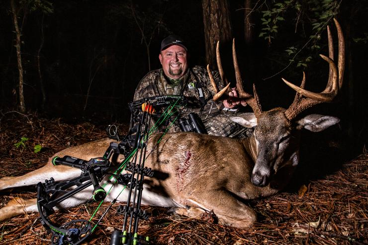 Turner proudly displays the impressive 10-point he took on his own Georgia property. Image by Realtree