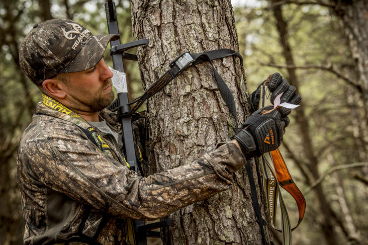 Even if you've hunted a farm for years, reevaluating your plans and hanging sets in new spots can pay off big. Image by Realtree
