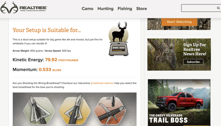 Realtree's interactive broadhead selector helps you match the right broadhead to your bow for the hunting you'll be doing.