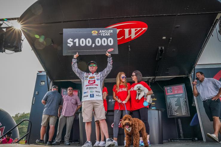 Mark Rose FLW Angler of the Year. Photo by Andy Hagedon