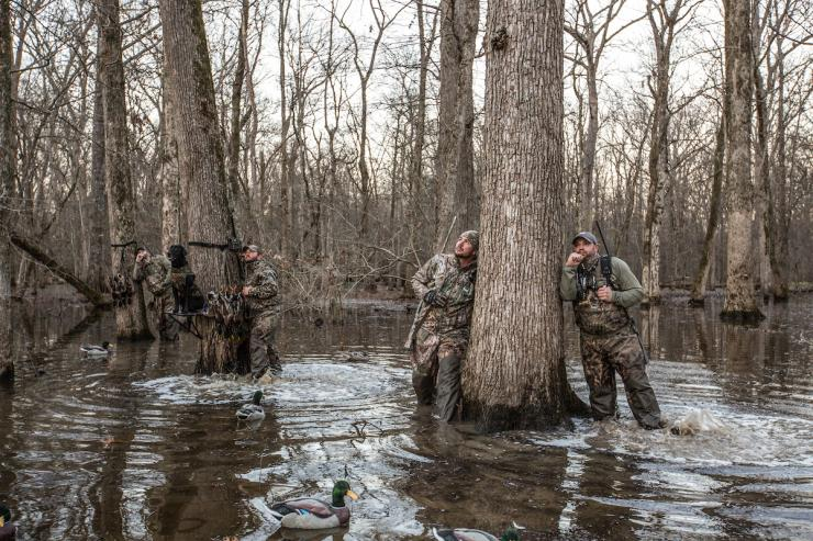 Public water offers great opportunities but many challenges. Resourceful hunters find ways to avoid the crowds. Photo © Banded