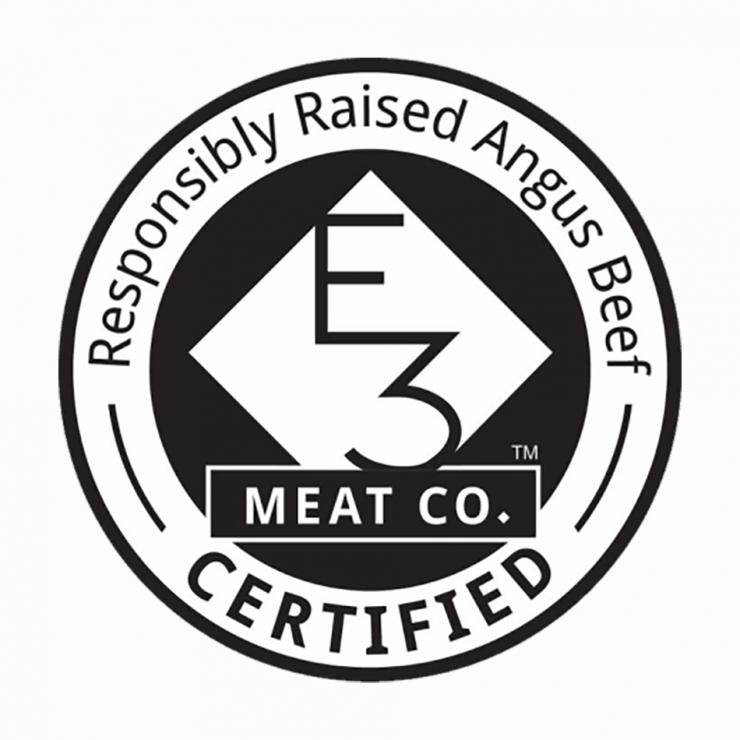 The E3 Meat Company is committed to holistically raised, steroid and hormone free Angus beef.