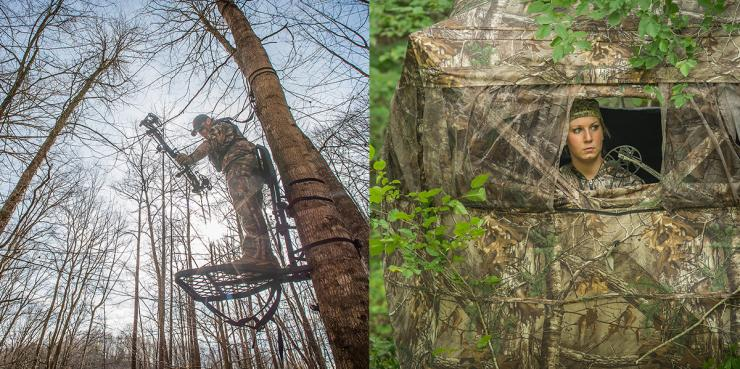 Both treestands and ground blinds have their places. (HeadHunters TV/Bill Konway photo)