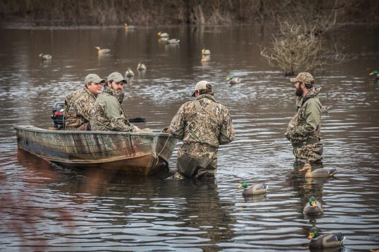 Being part of a good crew makes waterfowl hunting much more enjoyable. Photo © Bill Konway