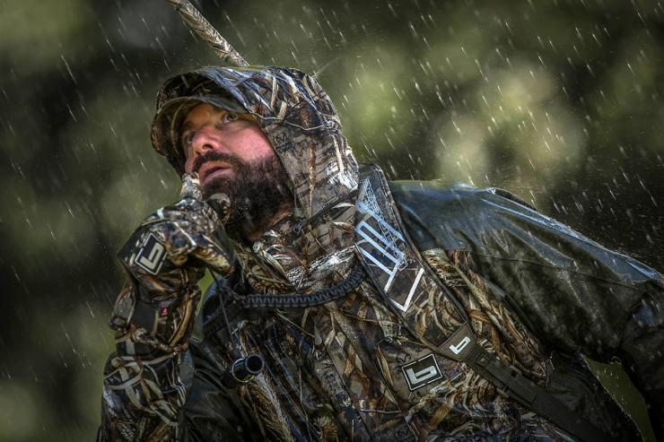 Conventional wisdom previously held that rainy days were good for duck hunting. However, that's rarely true. Photo © Bill Konway