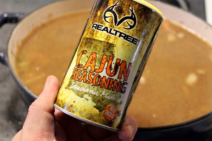 To kick the spice up a bit in your gumbo, try the Realtree Cajun seasoning blend.