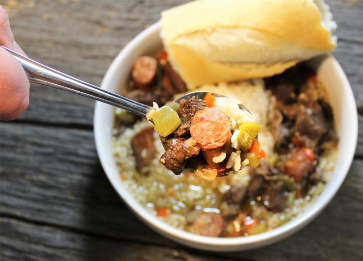 Serve up your beaver gumbo with white rice and a hunk of crusty French bread for a filling meal.