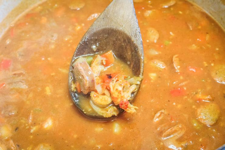 This etouffee recipe is meaty and full of flavor.
