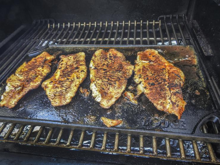 A cast iron griddle is perfect for this recipe.