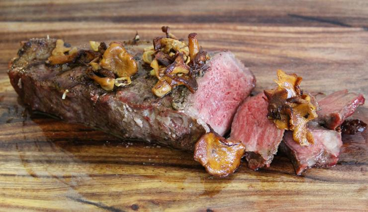 Eat the chanterelles by themselves, in an omelet, or just spooned over a good steak.