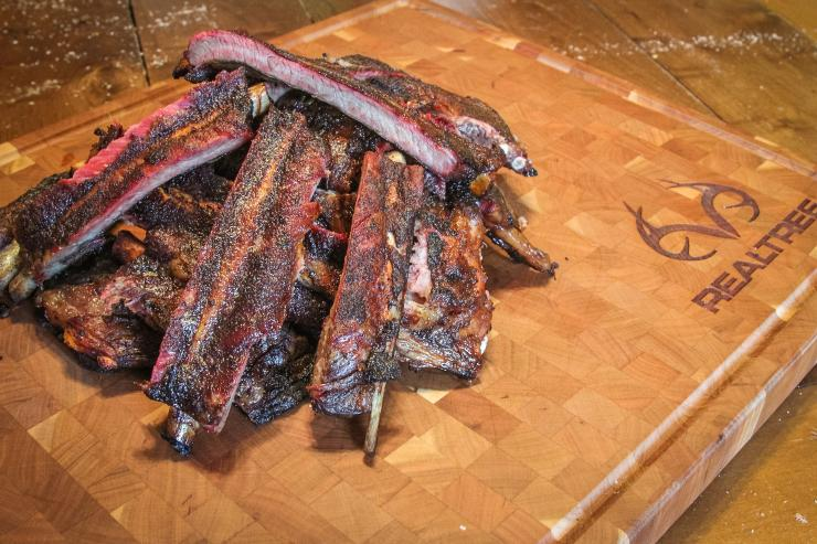 Wild pig ribs may be lean and thin, but this cooking method makes them moist, tender, and delicious.