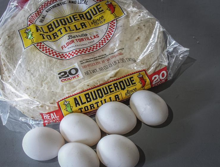 Use as many eggs as you like, and the freshest flour tortillas you can find.
