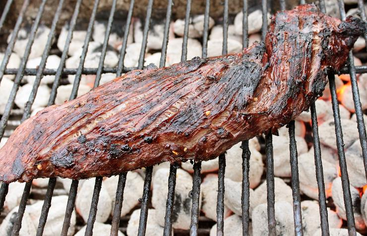 Grill the tenderloin over a hot gas or charcoal grill for 3-5 minutes per side.
