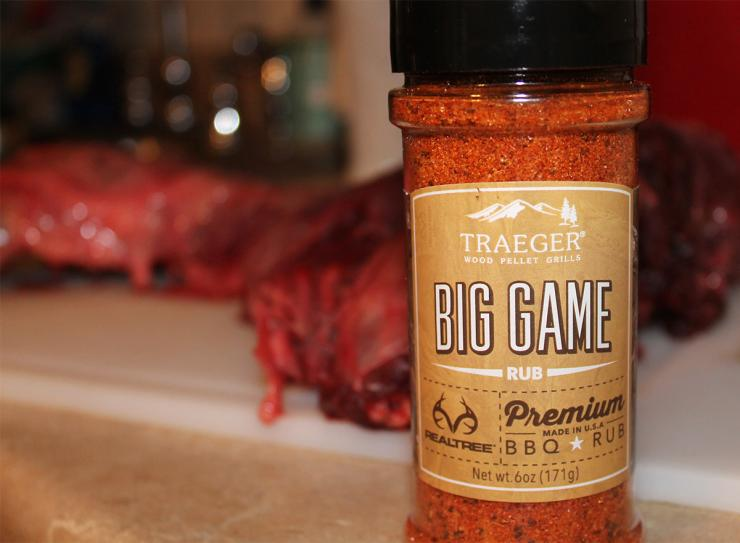 Season the whistlepig well with your favorite BBQ rub before smoking.