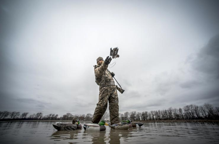 Decoying birds is the most popular waterfowl hunting method, but you can take ducks using many tactics. Photo © Realtree