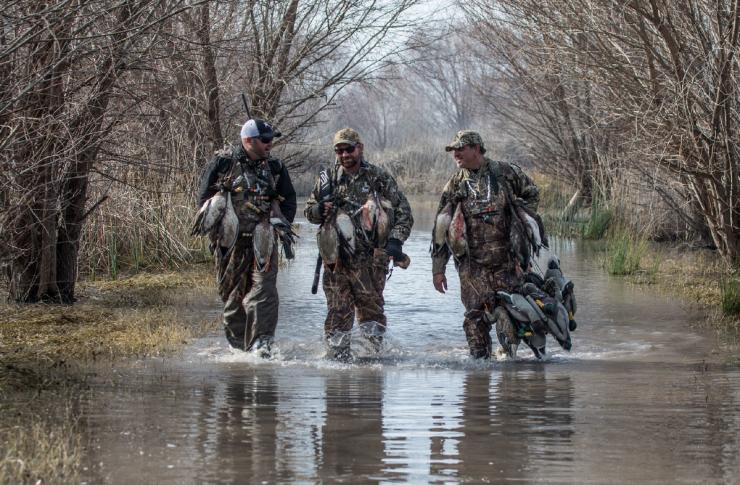 Any day in a duck blind is good, but weather and environmental conditions give some hunts more promise. Photo © The Fowl Life