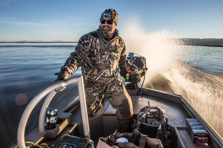 Chad Belding is always preparing for duck and goose hunting. Are you? Photo © Tom Rassuchine/Banded