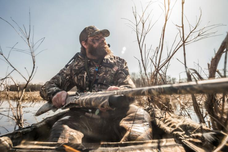 It's shocking how few hunters wear PFDs while running their boats. Photo © Craig Watson