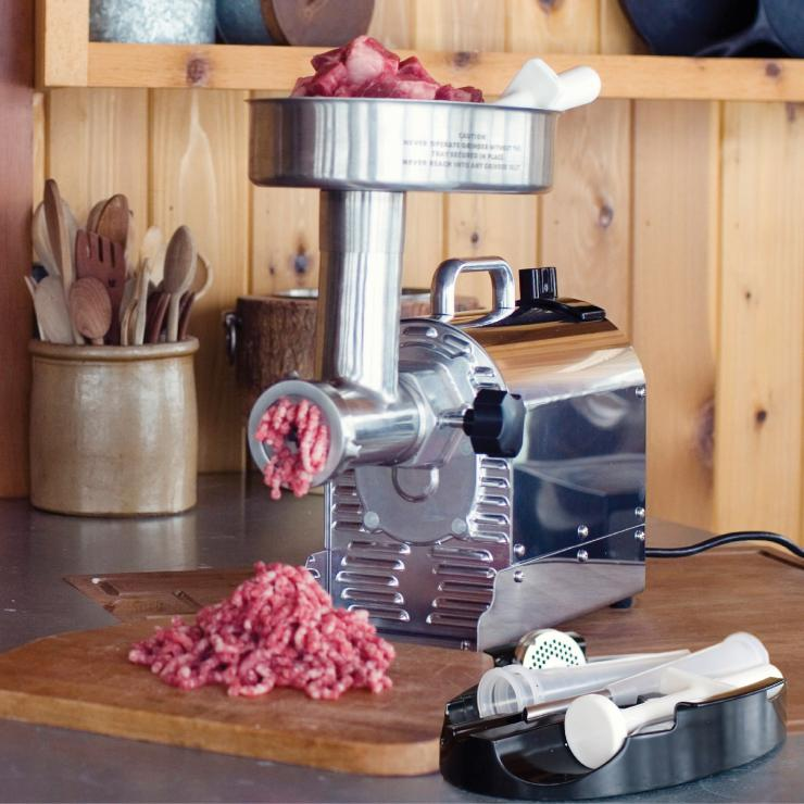 Loaded with features, the Weston Pro Series will handle even the most hard core home butchers with ease.