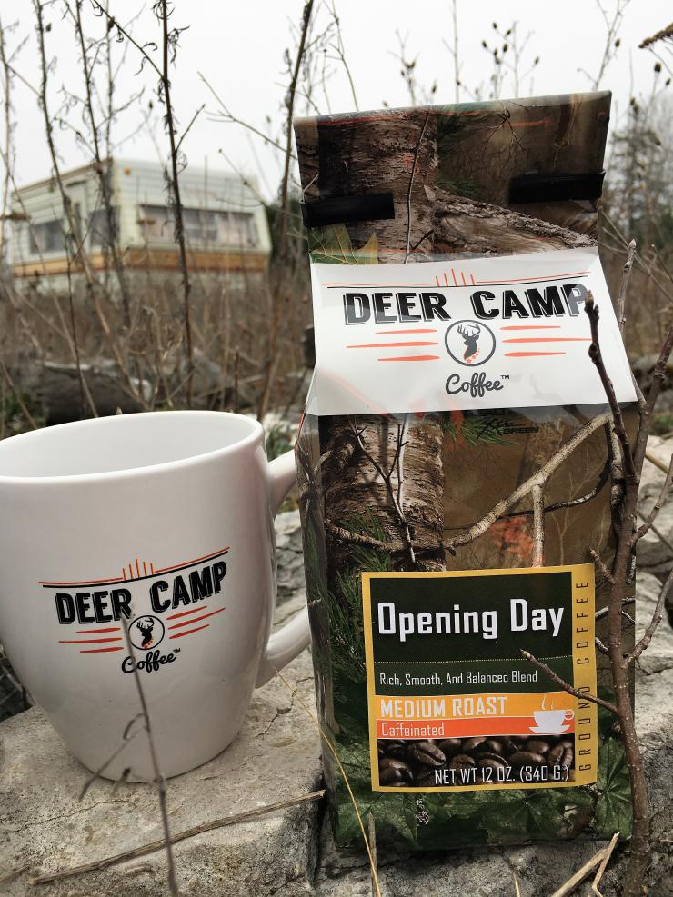 Serve up Deer Camp Coffee before your next hunt.