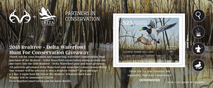 Proceeds from this commemorative stamp will benefit Delta Waterfowl and waterfowl conservation.