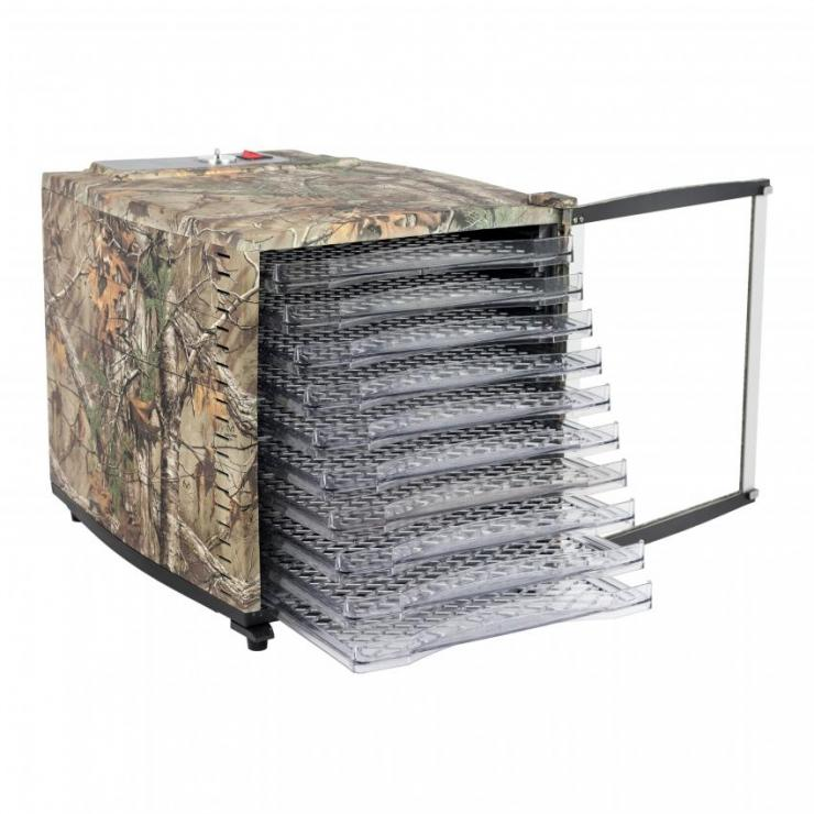 The ten tray dehydrator is loaded with all the features you need to dry just about anything.