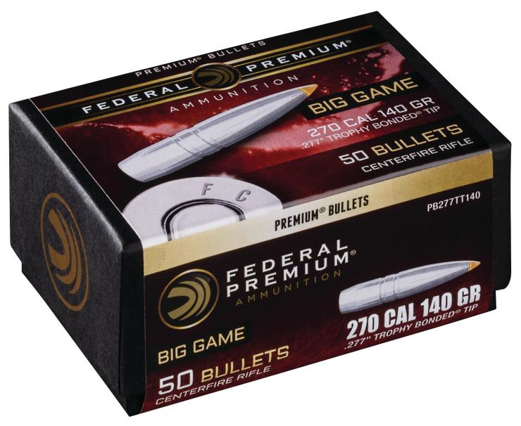 Federal Premium Now Offers Its Trophy Bonded Tip as a Component Bullet