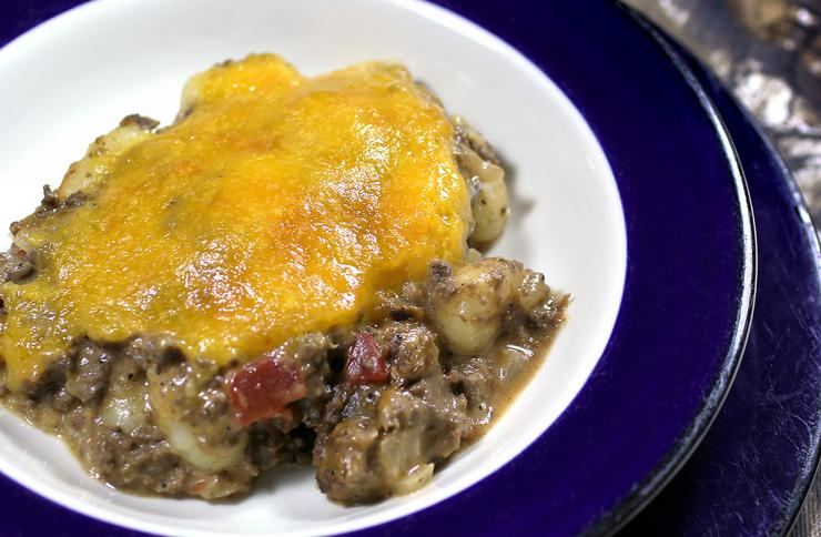 A bowl of Venison Cheeseburger Gnocchi hits the spot when it comes to a hearty meal.