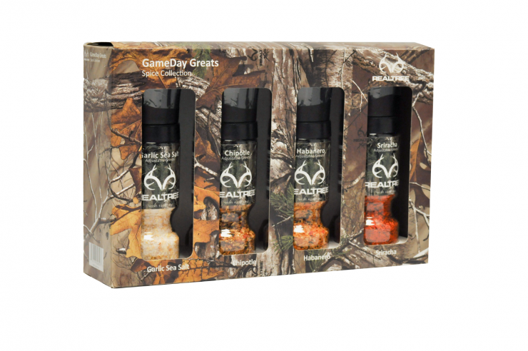 Kick things up a notch in the kitchen with these Jim Kelly spice blend grinders.