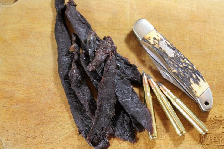 A handful of jerky will keep hunger at bay on an all day hunt.