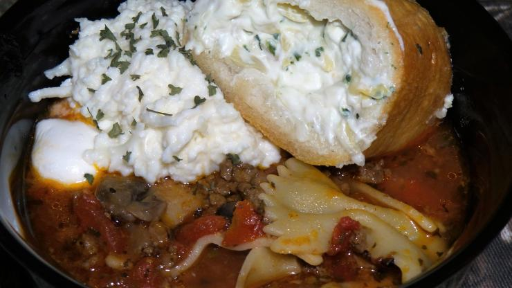 Lasagna soup hits the spot on a cold day.