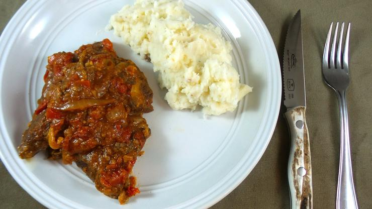 Swiss Steak comes out fork tender and moist.