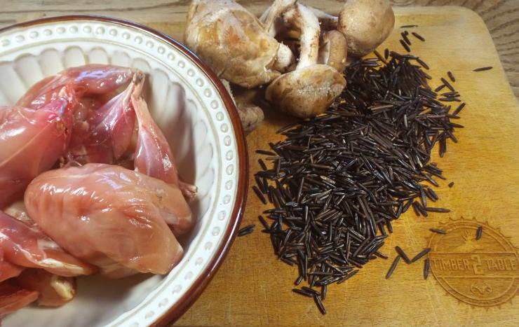 Quail, wild rice, and mushrooms, all flavors that fit well together.
