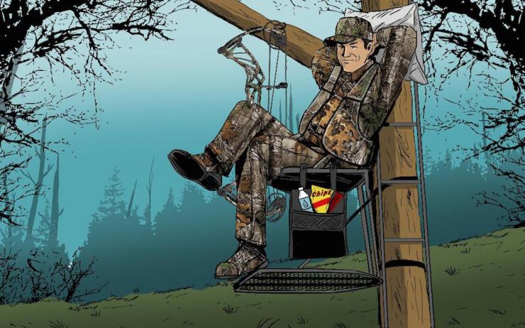 Do you kick back in the treestand? (Ryan Orndorff illustration)