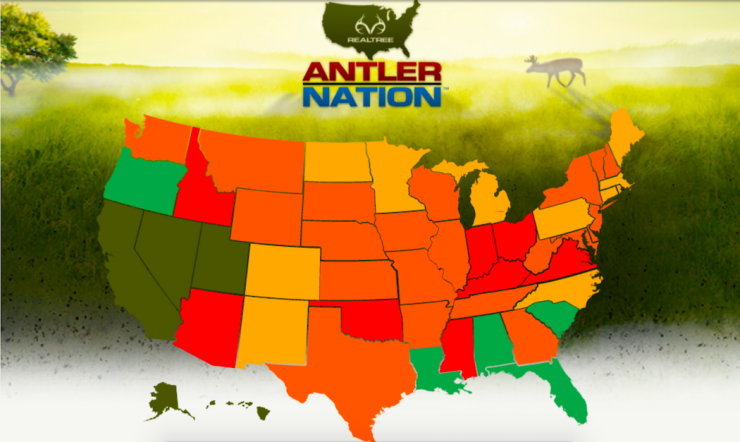 Realtree's Antler Nation is great for studying many aspects of the quality of a state's deer hunting. (Realtree photo)