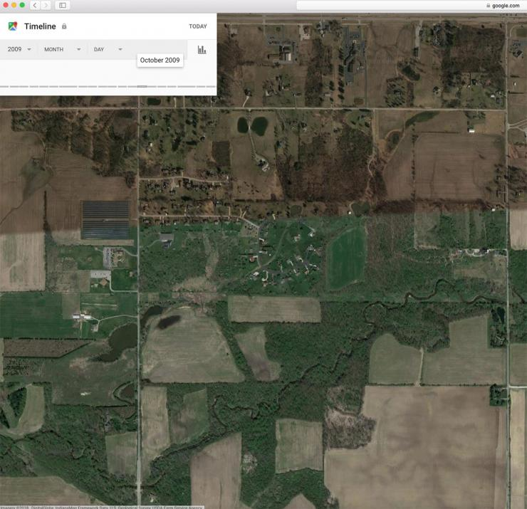 using google earth historical layers for deer hunting realtree camo