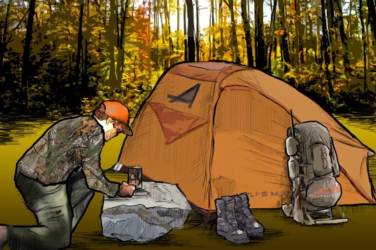 What does your deer hunting drop camp look like? (Ed Anderson photo)