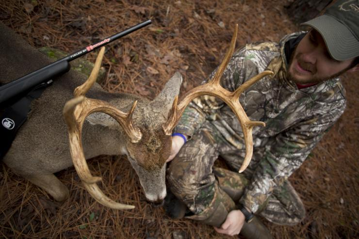 Jason Heathcoe, producer for Michael Waddell's Bone Collector, killed a great Georgia public land buck after setting realistic goals based on his summer scouting efforts.  (Jason Heathcoe photo)