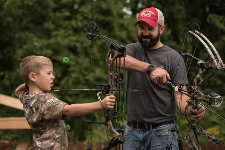 Match the bow to the person. Use kid-friendly archery equipment. (Craig Watson Photography)