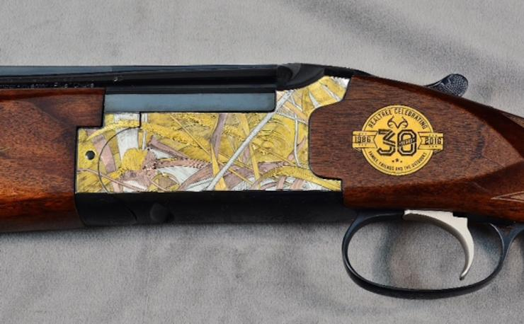 The detail in this Realtree 30th Anniversary firearm is very impressive.