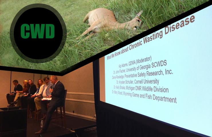 Despite those who foolishly brush CWD under the rug and claim it should be of no concern to you, it is a problem. Above is one of two panels of experts that discussed CWD at the 2017 North American Deer Summit. (Brita Lewis Turbyfill photo)