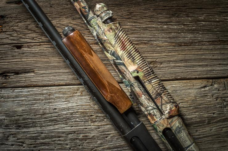 Pictured here is the Remington 870 and Benelli SuperNova. (Bill Konway photo)