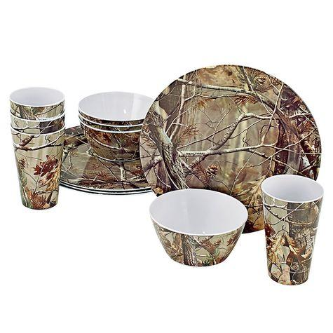 This 12 piece set of melamine tableware is perfect for camp or home.