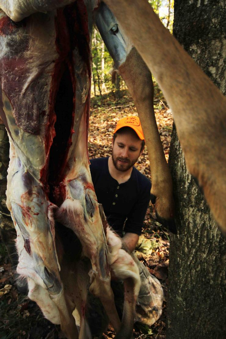 In warm weather, deer should be skinned and quartered ASAP.
